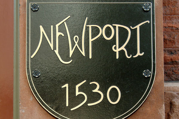 The Newport Building Sign