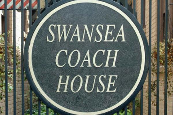 Swansea Coach House Building Name Plaque